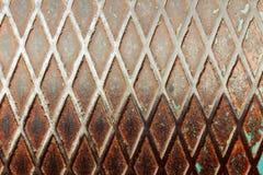 Dunkle Stahlliste mit Rautenformen Lizenzfreies Stockbild