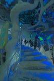 Dunkle Treppe Stockfoto