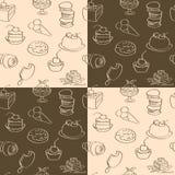 Dunkle und helle Tapete mit Bonbons Stockfotografie