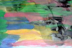 Dunkle wächserne Stellen und abstrakter Hintergrund des Aquarells Stockfotografie