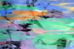 Dunkle wächserne Stellen und klares Aquarell extrahieren Hintergrund Stockbilder