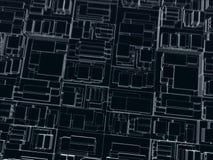 Dunkle Würfel mit verschiedenen Größen lizenzfreie stockbilder