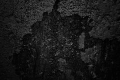 Dunkle Wand mit gefallen weg vom Gips Lizenzfreies Stockbild