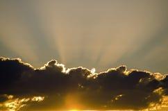 Dunkle Wolken Stockfotografie