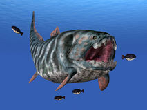 Dunkleosteus While Hunting Stock Photography