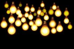 Dunkler abstrakter Beleuchtungshintergrund Stockfotografie