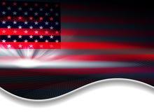 Dunkler abstrakter Hintergrund mit einer USA-Flagge Stockfoto
