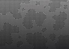 Dunkler abstrakter Hintergrund mit Hexagonen und Stellen Auch im corel abgehobenen Betrag vektor abbildung