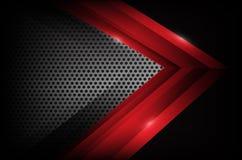 Dunkler Chromstahl und rotes Deckungselement extrahieren Hintergrund VE lizenzfreie abbildung