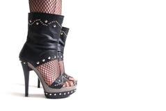 Dunkler eleganter Fuß Lizenzfreie Stockfotografie