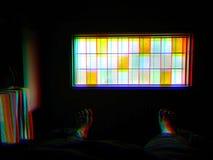 Dunkler Fensterfarbenreinheitsmosaik-Illustrationshintergrund Stockfotografie
