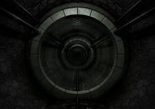 Dunkler futuristischer Tunnel Stockbilder