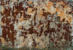Dunkler getragener rostiger Metallbeschaffenheitshintergrund stockfotografie