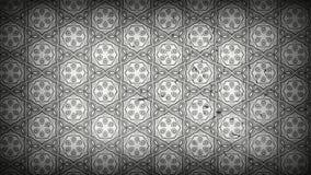Dunkler Gray Decorative Floral Pattern Wallpaper stock abbildung