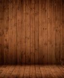 Dunkler hölzerner Innenraum Stockfoto