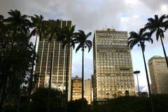 Dunkler Himmel über Sao-Paulo Lizenzfreie Stockfotografie