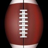 Dunkler Hintergrund des amerikanischen Fußballs oder des Rugbys trägt zur Schau Lizenzfreies Stockbild