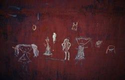 Dunkler Hintergrund Kind-` s Gekritzel lizenzfreies stockfoto