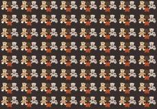 Dunkler Hintergrund mit drei verschiedenen Teddybären vektor abbildung