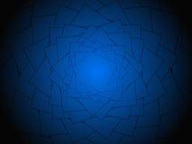 dunkler Hintergrund mit dreieckigen Konturen Stockbild
