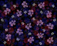 Dunkler Hintergrund mit transparenten Blumen auf Schwarzem Stockfotografie