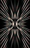 Dunkler Hintergrund Strahlen laufen von der Mitte zu den Rändern auseinander lizenzfreie abbildung
