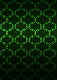 Dunkler Hintergrundvektor des grünen Blütennetzmusters Stockfotografie