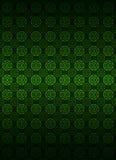 Dunkler Hintergrundvektor des grünen Kreisformmusters Stockfotografie