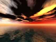 Dunkler Horizont Stockfoto