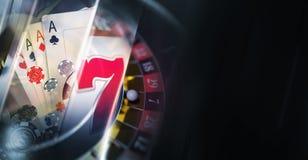 Dunkler Kasino-Fahnen-Hintergrund Stockbild