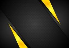 Dunkler Kontrastschwarz-Gelbhintergrund Lizenzfreie Stockbilder