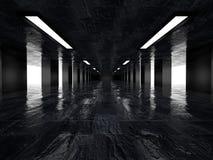 Dunkler Korridor, 3D Stockfoto