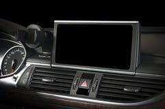 Dunkler Luxusauto Innenraum Lizenzfreies Stockfoto