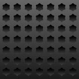 Dunkler Metallhintergrund mit eingedrückten Sternen Lizenzfreie Stockbilder