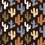 Dunkler netter Kaktuswüstengarten stockfoto