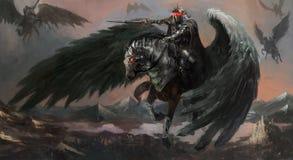 Dunkler Pegasus Stockfoto