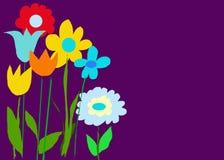 Dunkler purpurroter Farben-Garten Stockfoto
