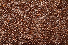Dunkler Röstkaffee Bean Background Lizenzfreies Stockbild