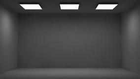 Dunkler Raum Stockfoto
