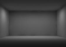 Dunkler Raum Stockfotografie