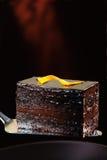 Dunkler Schokoladenkuchen Stockfotografie