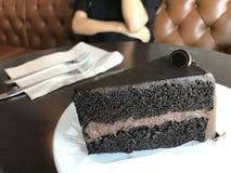 Dunkler Schokoladenkuchen Stockbild