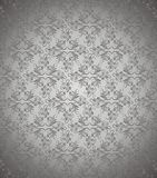 Dunkler silberner Blumenvektorhintergrund Stockbild
