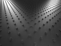 Dunkler silberner metallischer Dots Background Lizenzfreie Stockfotos