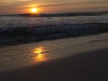 Dunkler Sonnenuntergang Stockfotografie