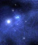 Dunkler sternenklarer Himmel lizenzfreie abbildung