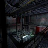 Dunkler und furchtsamer Platz in einer Scifieinstellung. 3D Lizenzfreies Stockfoto