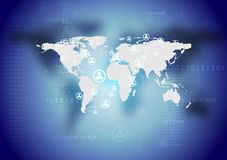 Dunkler Vektortechnologie-Zusammenfassungshintergrund Stockfotos
