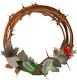 Dunkler Wreath lizenzfreie stockbilder