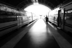 Dunkler Zug Stockfotografie
